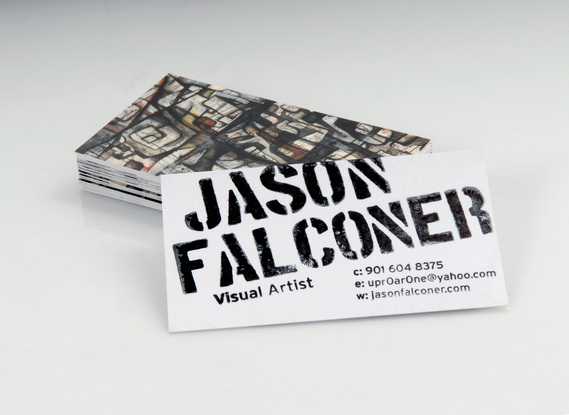 Business card, Jason Falconer